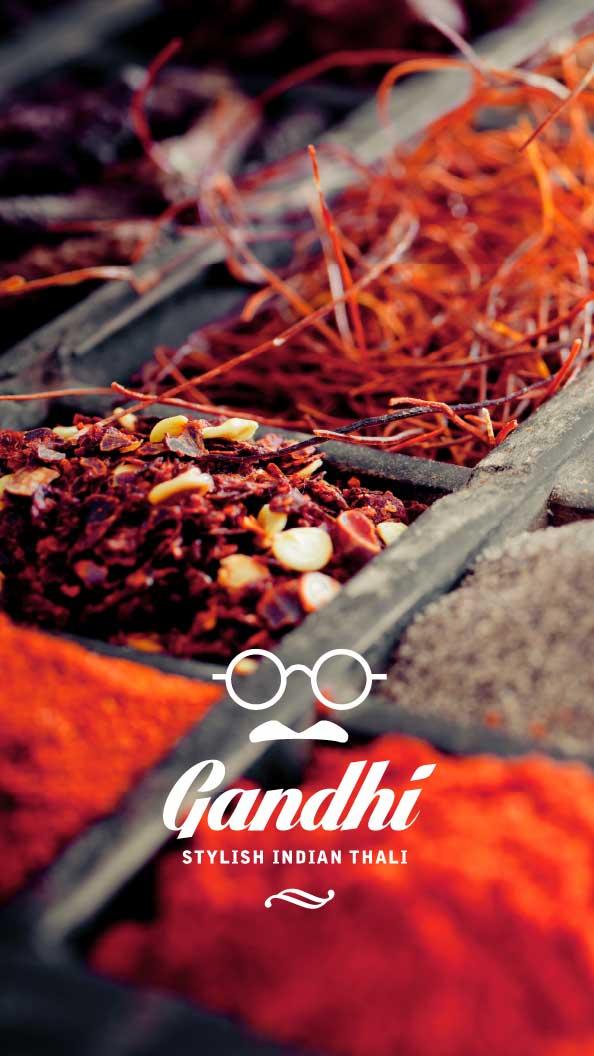 My Albert marketing digital Geneve Projet restaurant branding Cafe Gandhi