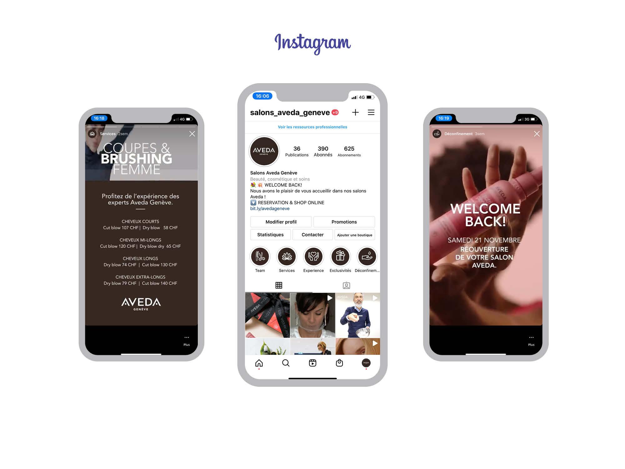 Social Media Aveda Instagram