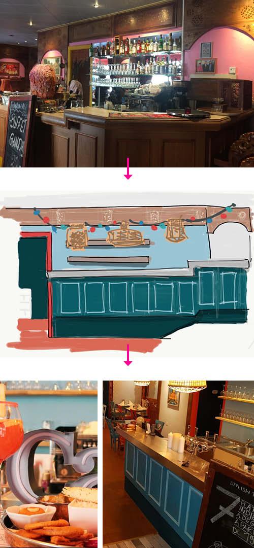 Renovation Café Gandhi restaurant Genève
