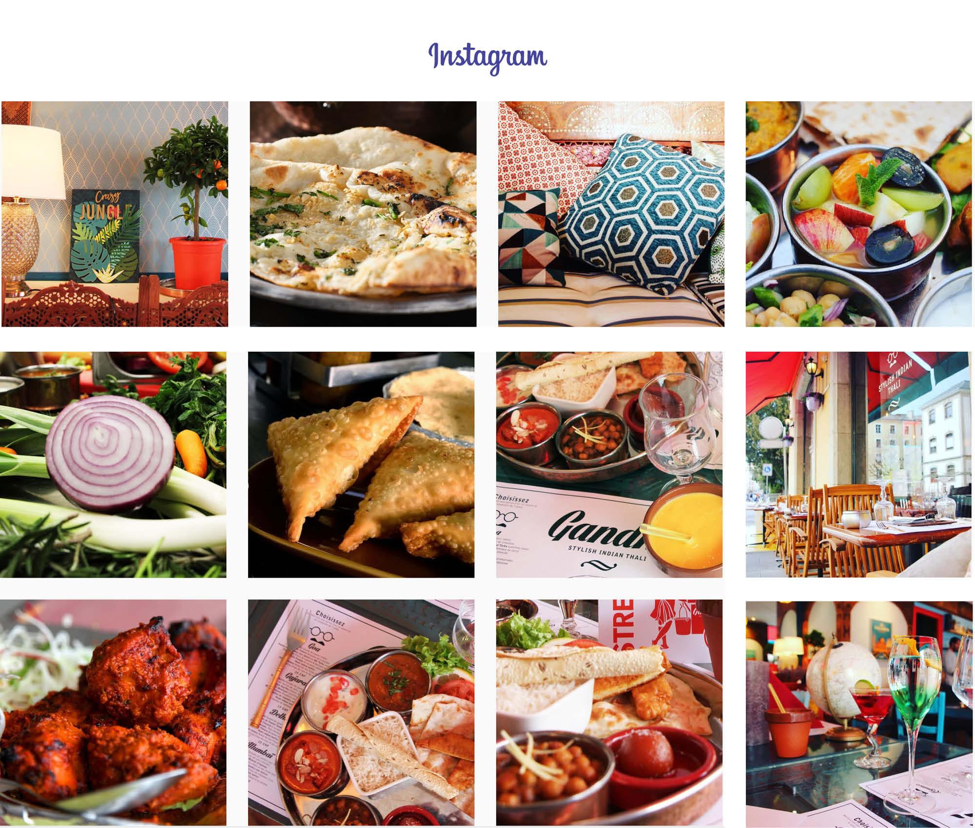 Posts Instagram restaurant Geneve Café Gandhi
