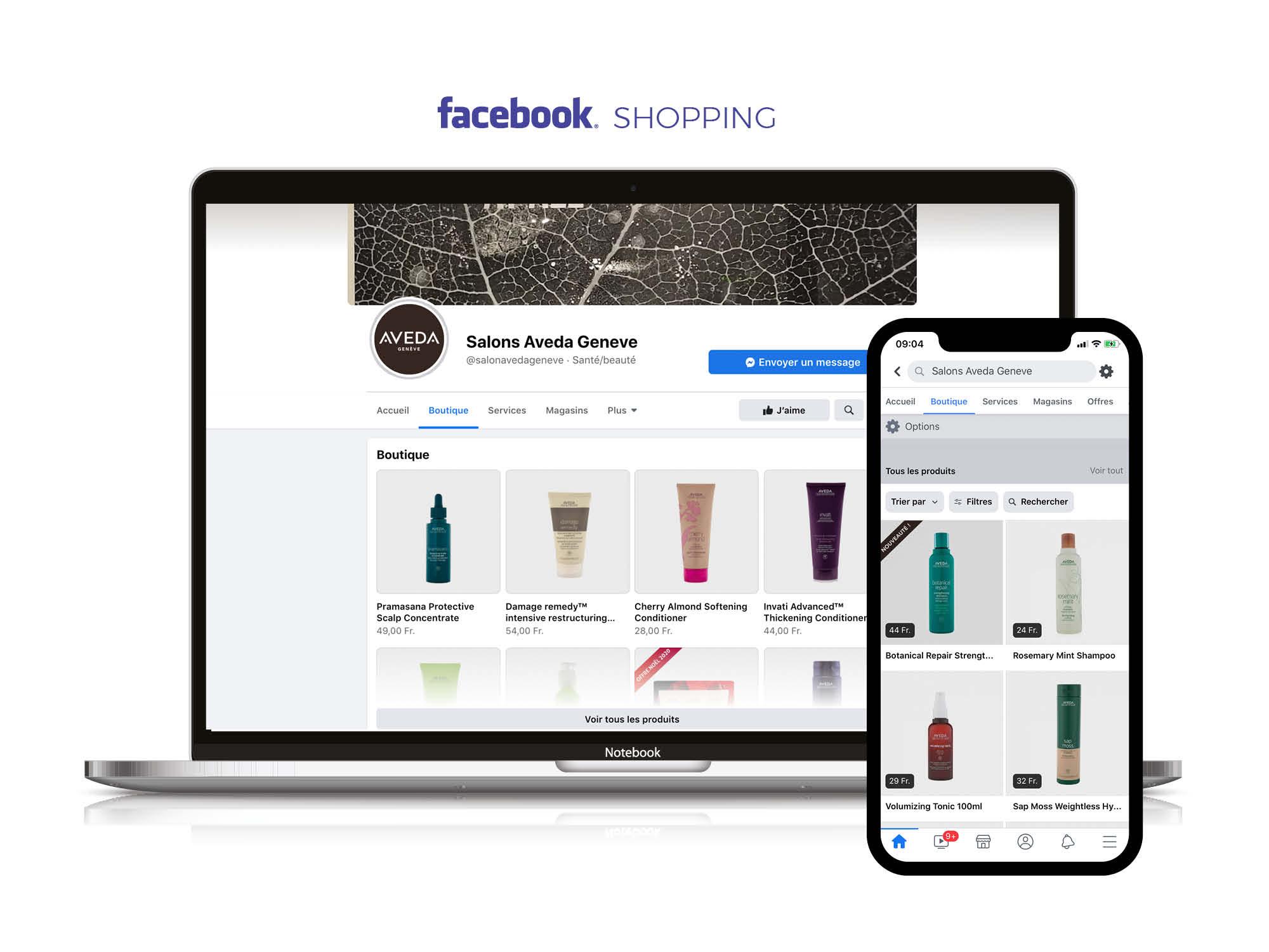 Facebook shopping configuré par My Albert à Genève en Marketing