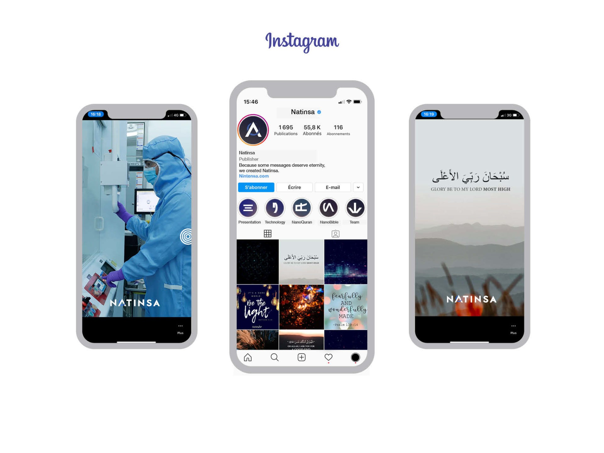 Social Media Instagram Natinsa My Albert marketing Genève