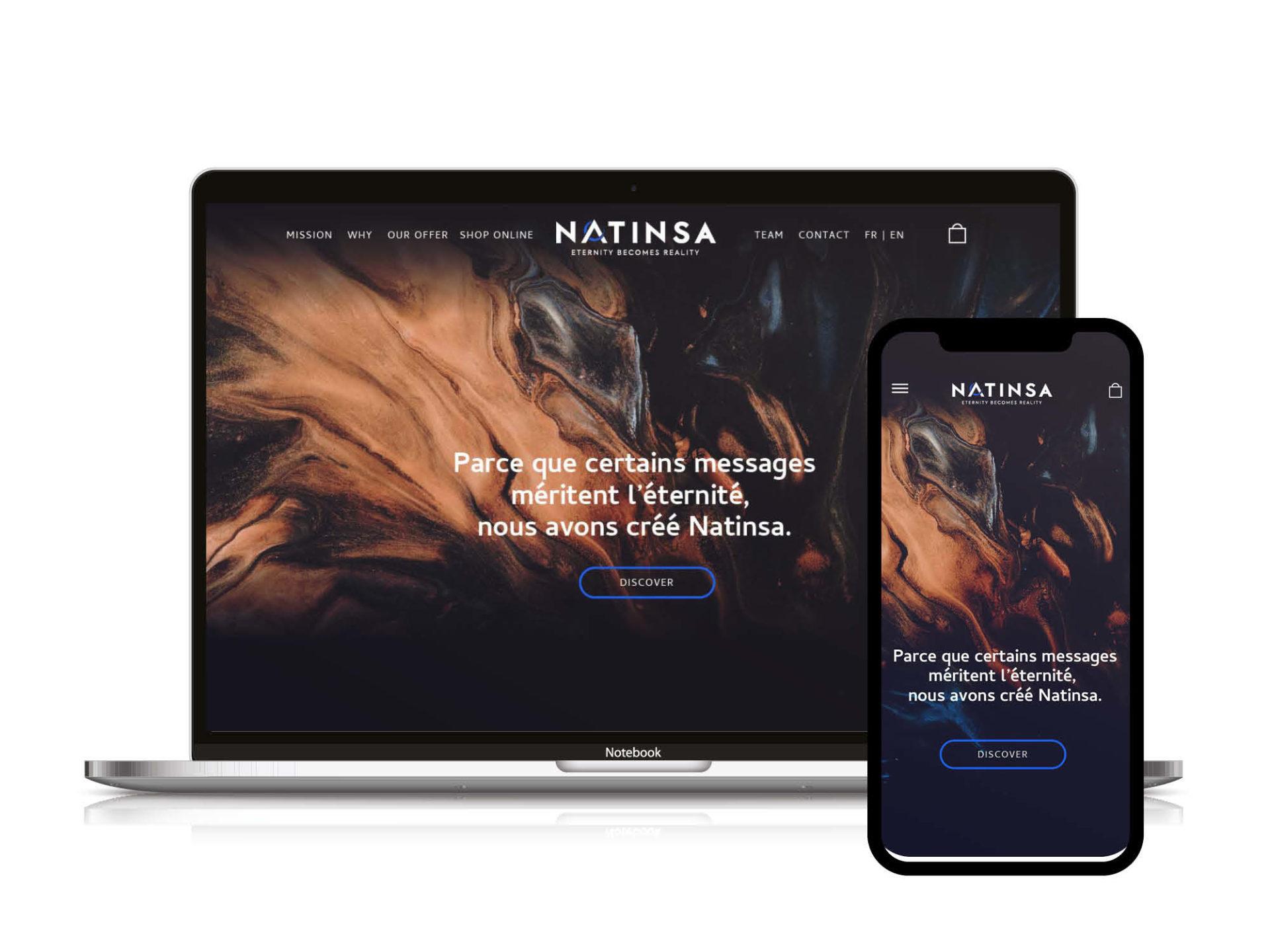 Site web ecommerce Natinsa vue 1