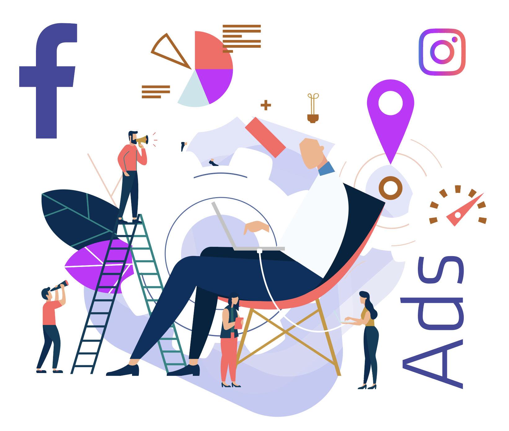 Facebook Ads Road Map illustration